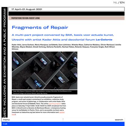 Fragments of Repair