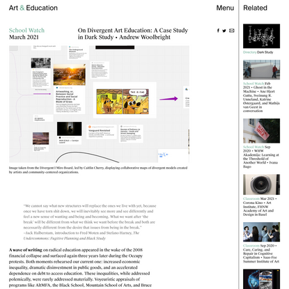 On Divergent Art Education: A Case Study in Dark Study - School Watch - Art & Education