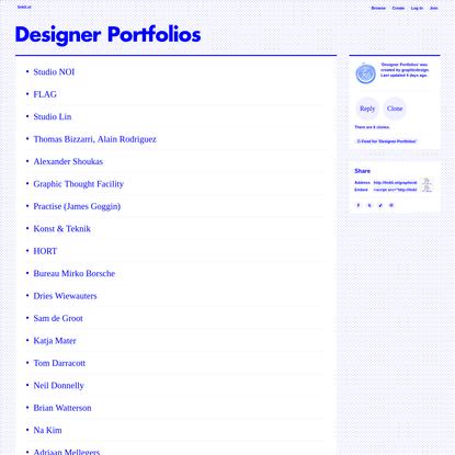 Designer Portfolios · linkli.st