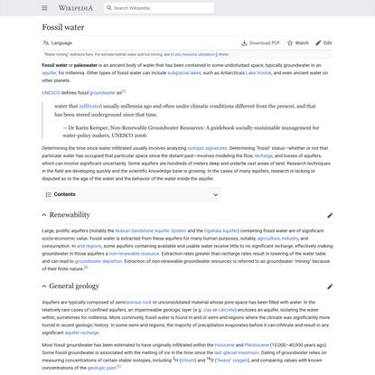 Fossil water - Wikipedia