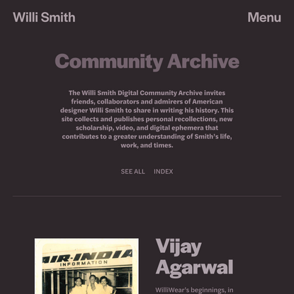 Community — Willi Smith Community Archive