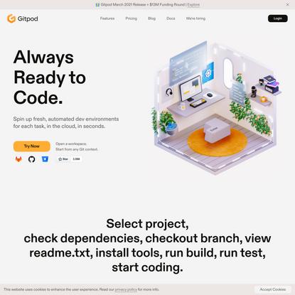 Gitpod - Always ready to code
