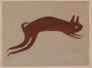 Bill Traylor, Rabbit, ca. 1940–1942