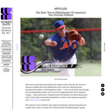 The Mets' Trevor Hildenberger On America's Two Favorite Pastimes
