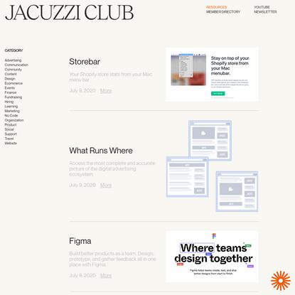Jacuzzi Club - Resources