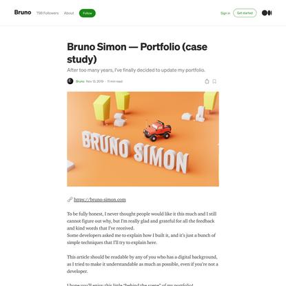 Bruno Simon—Portfolio (case study)