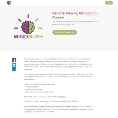 Remote Viewing Introduction Course