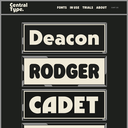 Fonts — Central Type