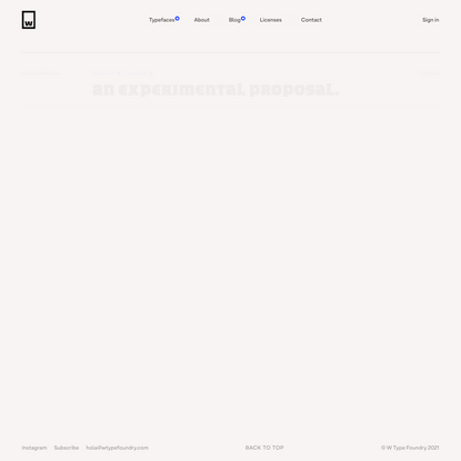 Typefaces | W Type Foundry — Fonts for Desktop, Print, Web, Apps & more