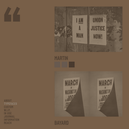 Typefaces — VOCAL