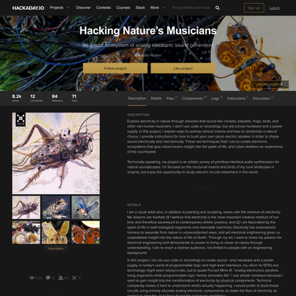 Hacking Nature's Musicians