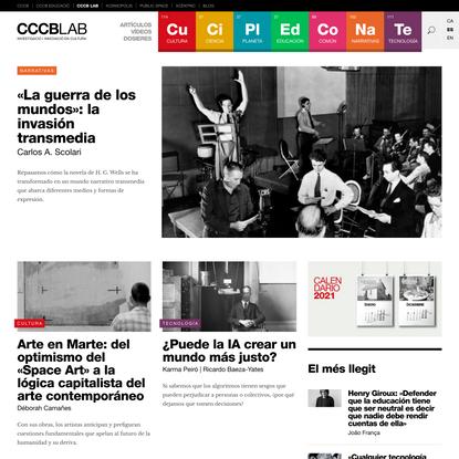 CCCB LAB | Investigació i innovació en cultura
