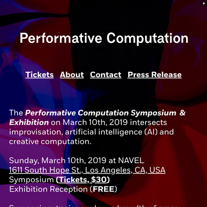 Performative Computation