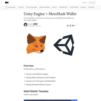 Unity Engine + MetaMask Wallet