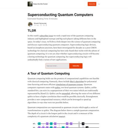 Superconducting Quantum Computers