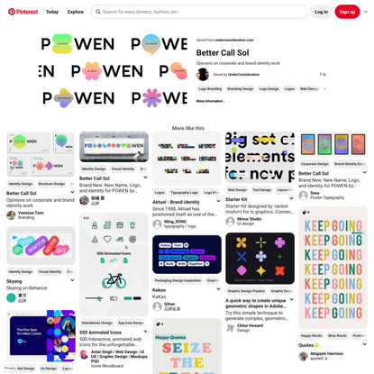 Brand New: New Name, Logo, and Identity for POWEN by Saffron   Graphic design posters, Dynamic logo, Visual identity