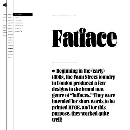Ohno Fatface | OH no Type Company