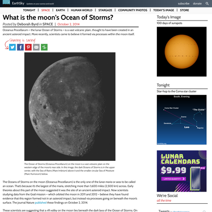 What is the moon's Ocean of Storms? | EarthSky.org