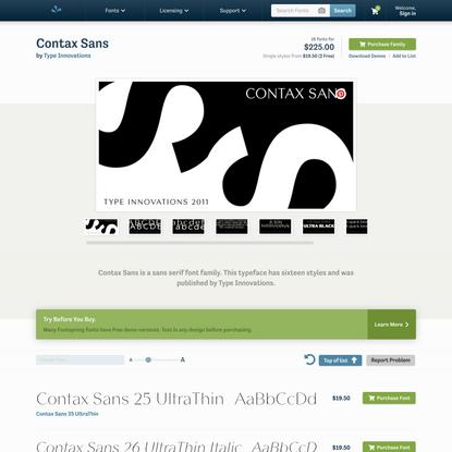 Contax Sans Font | Fontspring