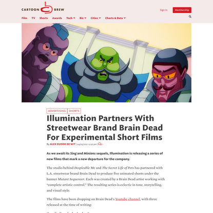 Illumination Partners With Streetwear Brand Brain Dead For Experimental Short Films