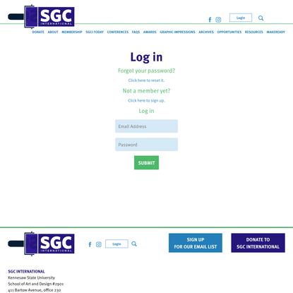 SGC International - Log in