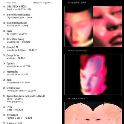 Nicolas Garner: Meta-Aesthetics