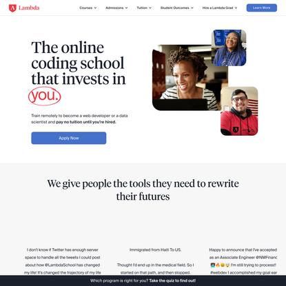Online Web Dev & Data Science Courses | Lambda School