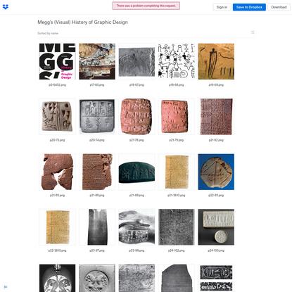 Dropbox – Megg's (Visual) History of Graphic Design – Gjør livet ditt enklere