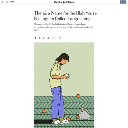 There's a Name for the Blah You're Feeling: It's Called Languishing