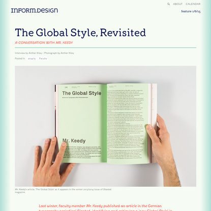 The Global Style, Revisited