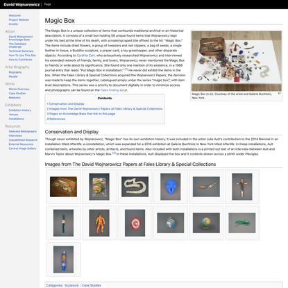 Magic Box - David Wojnarowicz Knowledge Base