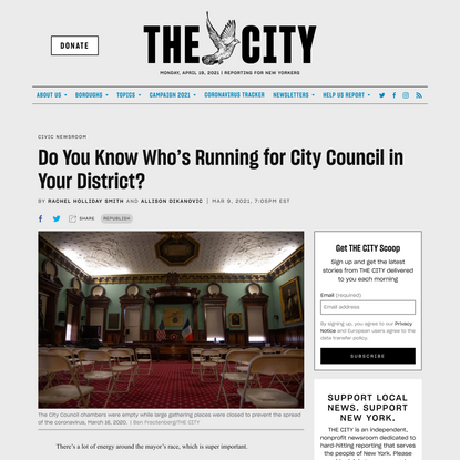 Do You Know Who's Running for City Council in Your District?