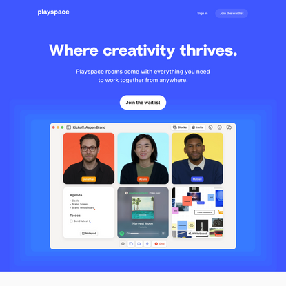Playspace | Creative teamwork from anywhere