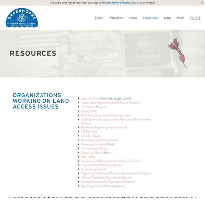 Resource List - Greenhorns