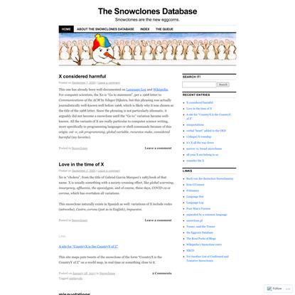 The Snowclones Database