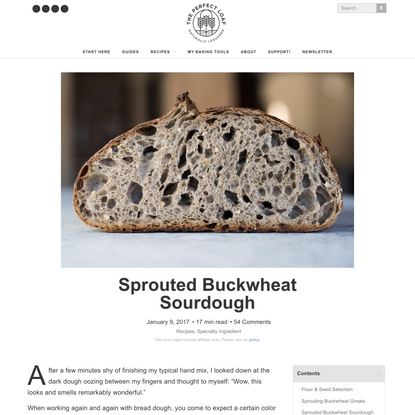 Sprouted Buckwheat Sourdough | The Perfect Loaf