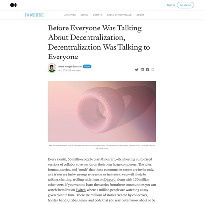 Before Everyone Was Talking About Decentralization, Decentralization Was Talking to Everyone