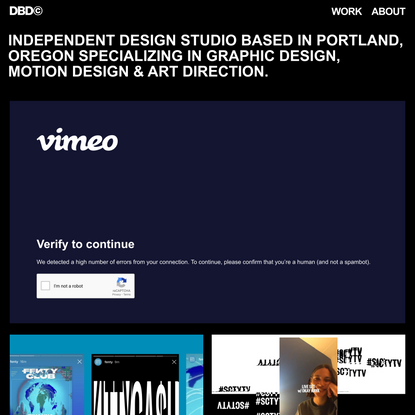 Design by Duncan © – Independent design studio specializing in graphic design, motion design and art direction.