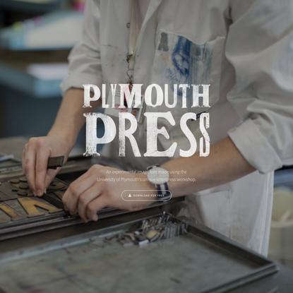 PlymouthPress – A Letterpress Image Font