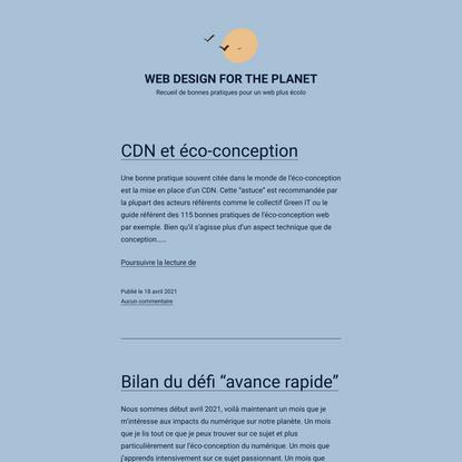 Web Design For The Planet - Recueil de bonnes pratiques pour un web plus écolo