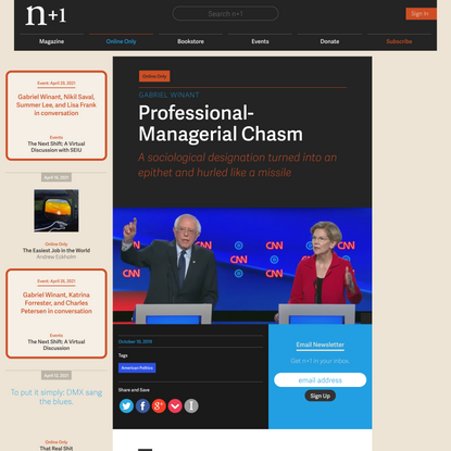 Professional-Managerial Chasm