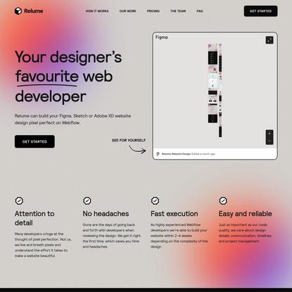 Your Designer's Favourite Web Developer
