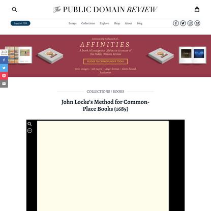 John Locke's Method for Common-Place Books (1685)