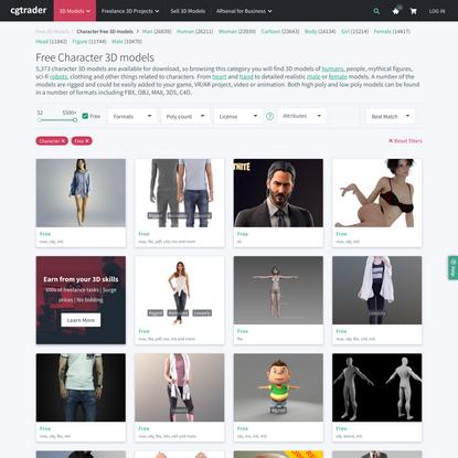 Free Character 3D Models | CGTrader