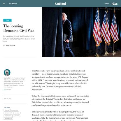The looming Democrat Civil War - UnHerd