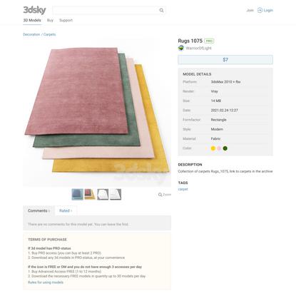 3d models: Carpets - Rugs 1075