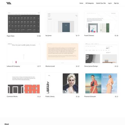 Siiimple • A Minimalist Website Gallery
