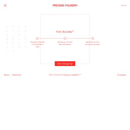 Pretend Foundry - Font Builder