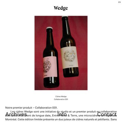 Cidres Wedge | Wedge