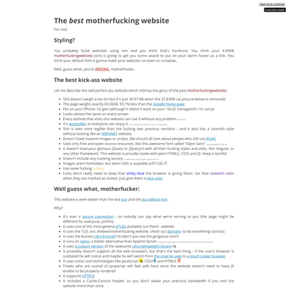 The Best Motherfucking Website